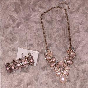 Pink statement jewelry set
